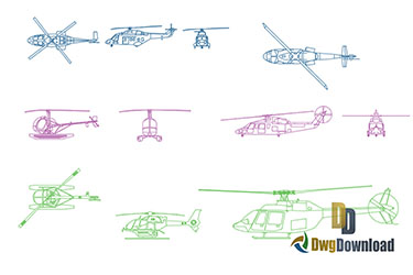 Helicopters Dwg Download