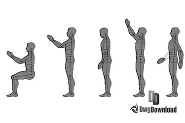 People Dynamic Block Dwg Download